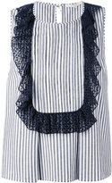 L'Autre Chose ruffled trim top - women - Cotton - 42