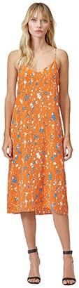 Equipment Jules Slip Dress (Orange Rust Multi) Women's Clothing