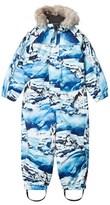 Molo Husky Print Polaris Faux Fur Junior Snowsuit