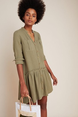Maeve Katie Textured Utility Tunic Dress