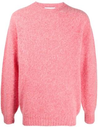 Harmony Paris Shaggy crewneck wool jumper