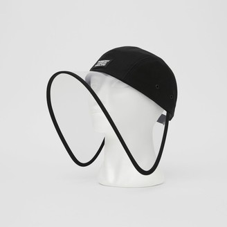 Burberry Transparent Detai Cotton Twi Bonnet Cap
