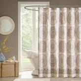 """Tangiers Medallion-Design Shower Curtain - Taupe/72"""" x 72"""""""