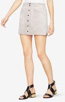 BCBGMAXAZRIA Mora Faux-Suede Miniskirt