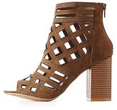 Charlotte Russe Geometric Laser Cut Ankle Booties