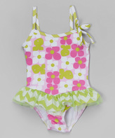 Flap Happy Aquatic Wallflower Skirted One-Piece - Infant & Toddler