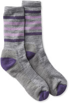 L.L. Bean Women's Smartwool Hike-Light Crew Socks, Striped