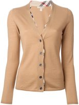 Burberry 'Haymarket Check' detail cardigan - women - Wool - M