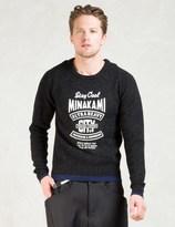 Man of Moods Black Merino Wool Crewneck Sweater