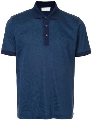Cerruti tropical-pattern polo shirt