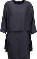 Stella McCartney Bogart draped crepe de chine mini dress