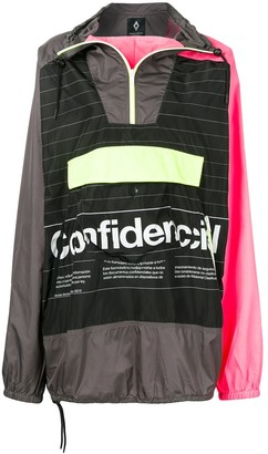 Marcelo Burlon County of Milan Confidencial hooded pullover jacket