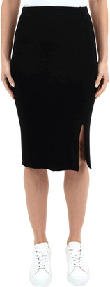 Three Dots Pencil Skirt with Slit