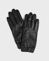 Thumbnail for your product : Ted Baker Ruched Cuff Leather Gloves