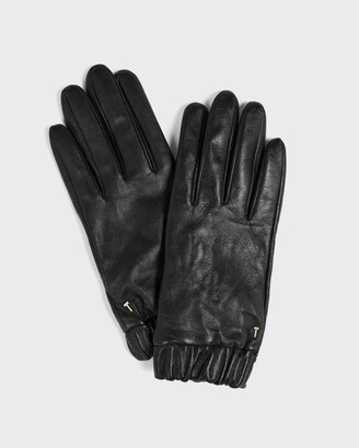 Ted Baker Ruched Cuff Leather Gloves