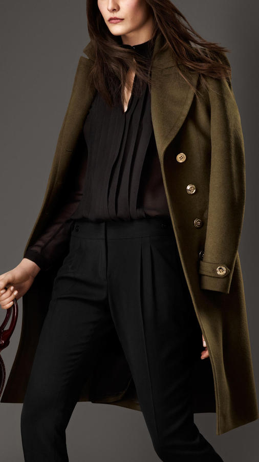 Burberry Wool Cashmere Military Coat
