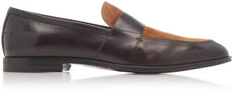 Bally Wenis Leather and Suede Loafers