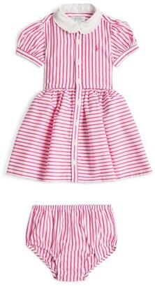 Ralph Lauren Kids Striped Polo Pony Shirt Dress (3-24 Months)