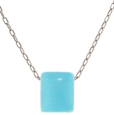 Ten Thousand Things Turquoise Chicklet Necklace - Silver