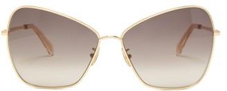 Celine Oversized Butterfly Metal Sunglasses - Gold
