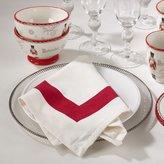 "Occasion Gallery Holiday Borde Geometric Design Dinner Napkins, 20"" Square (4 Piece Set)"