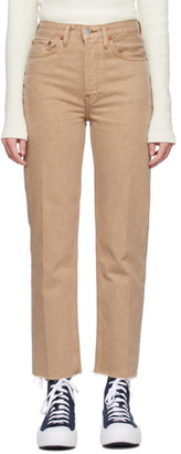 RE/DONE Beige 70s Stove Pipe Jeans