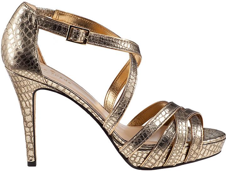 Kate Spade Ginger Evening Sandal Gold Croc