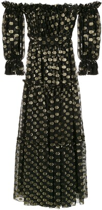 Dolce & Gabbana off-shoulder polka dot gown