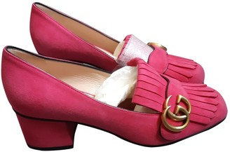 Gucci Marmont Pink Leather Heels