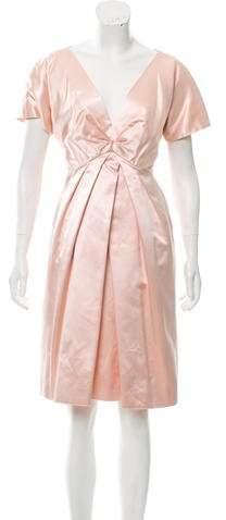 Alexander McQueen Silk A-Line Dress