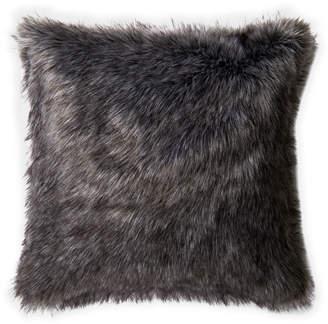 Loloi Black & Grey Faux Fur Decorative Pillow