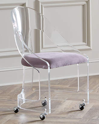 Interlude Home Mabel Nickel-Trimmed Acrylic Chair