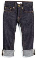 Burberry Skinny Rolled-Hem Jeans, Dark Indigo, Size 4-14