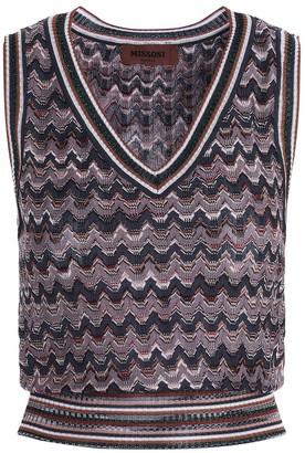 Missoni Patterned V-Neck Knitted Vest