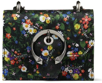 Jimmy Choo Mini Paris Floral Cross-Body Bag