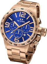 TW Steel CB183 Canteen rose gold PVD-plated stainless steel chronograph watch