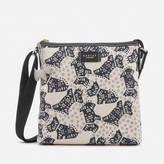 Radley Women's Folk Dog Medium Ziptop Cross Body Bag - Chalk