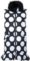 MSGM dotted long waistcoat - women - Polyamide - 42