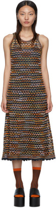 M Missoni Blue Crochet Dress