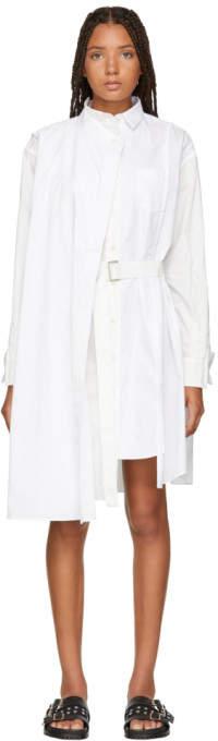 Sacai White Wrap Shirt Dress