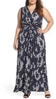 Eliza J Plus Size Women's Knot Front Maxi Dress
