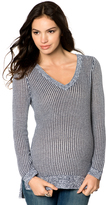 A Pea in the Pod Stitch Detail Maternity Sweater