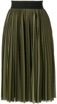 Givenchy perforated pleated skirt - women - Silk/Polyester/Acetate - 36
