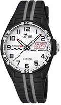 Lotus Marc Marquez Kids Collection 2016 Children's Quartz Watch with White Dial Analogue Display and Black Rubber Strap 18261/4