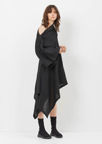 Yohji Yamamoto black left off-shoulder dress
