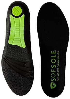 Sof Sole Full Length Plantar Fascia Insole (Black) Women's Insoles Accessories Shoes