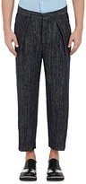 TOMORROWLAND MEN'S TWEED DROP-RISE TROUSERS-NAVY SIZE 50 EU