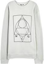 Mcq Alexander Mcqueen Light Grey Printed Cotton Sweatshirt