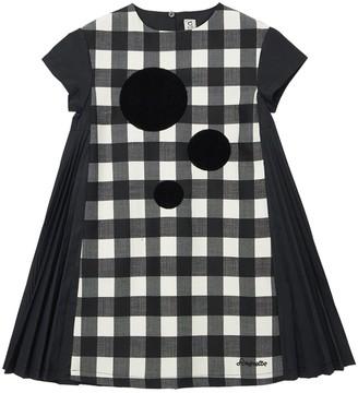 Simonetta Check Wool Blend Dress