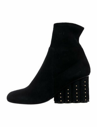 Salvatore Ferragamo Suede Ankle Boots Black